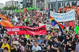 Thousands of protesters gather in Germany against mass surveillance
