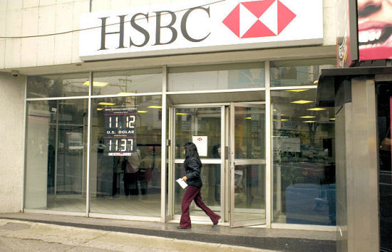 HSBC targeted in food bank protests