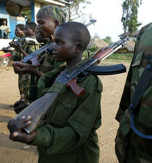 Child soldiers rescued in the Congo