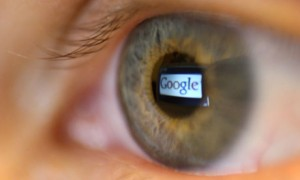Google reflected in eye