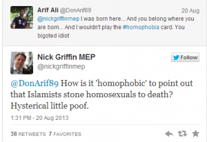 nick griffin homophobe