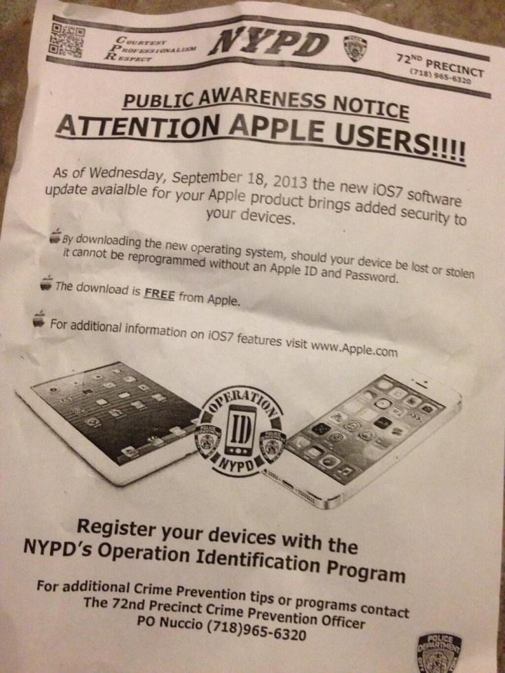 Police and corporations unite to sell new iOS7 phone