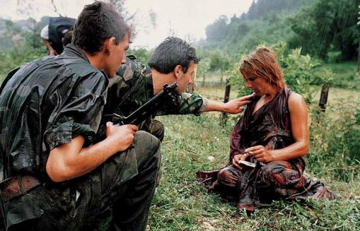 Victim of rape in the Yugoslavian war