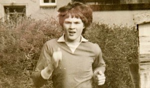 Andrew Ash pictured at the age of 14