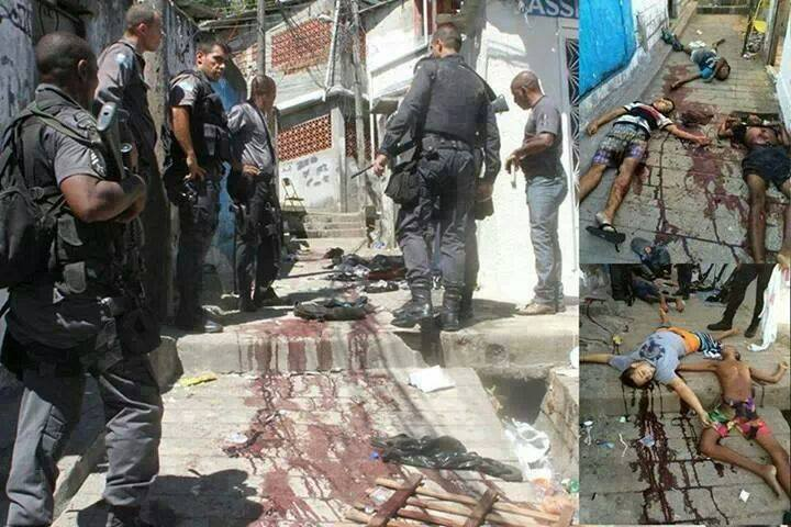Brazilian citizens of all ages have been mercilessly gunned down by the police