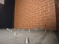 Spikes have appeared outside of luxury flats