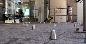 Anti-homeless spikes have also appeared outside of Swansea Bank