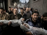 Palestinian citizens mourning their dead