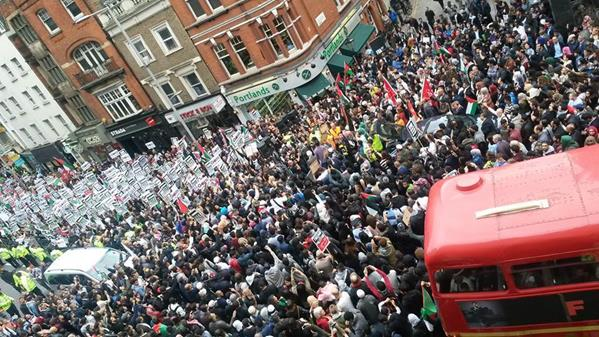 Over 85,000 protest against the slaughter of Palestinians in London