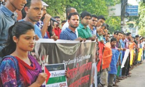 Demonstrators take to the streets in Bangladesh