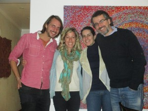 From left to right, Anna and Tom, with fellow Ubuntu networkers, Eduardo and his wife Joana from Brazil