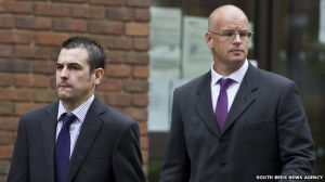 PCs Christopher Thomas and Christopher Pitts were cleared after mocking and being accused of assaulting a disabled man