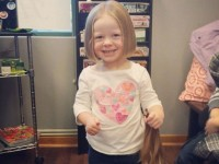 3 year-old Ariana Smith after her brand new haircut
