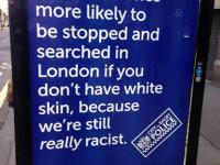 Anti-cop posters pop up across London bus stops