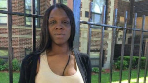 Nicola Robinson is 8 months pregnant and was punched in the stomach by an officer for laughing at him