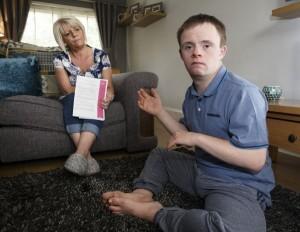 Stuart with his mum