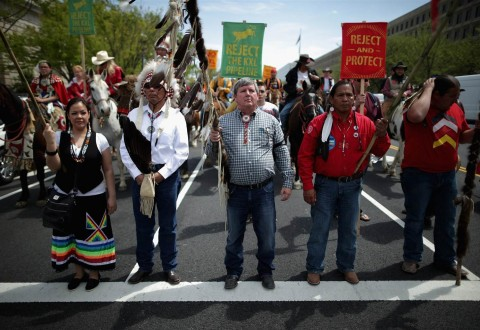 Native Americans banned from protesting
