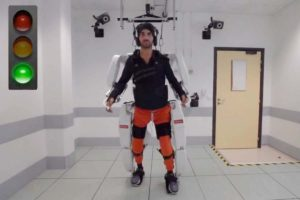 Paralyzed man walks again thanks to new technology.