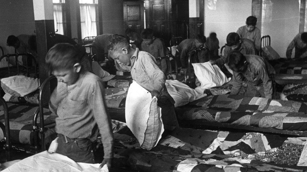 Children who attended the residential school